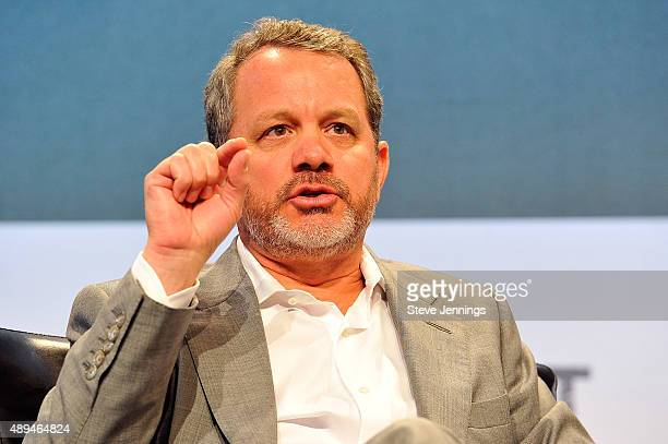 Growth Founding Partner Bill McGlashan speaks onstage during day one of TechCrunch Disrupt SF 2015 at Pier 70 on September 21 2015 in San Francisco...