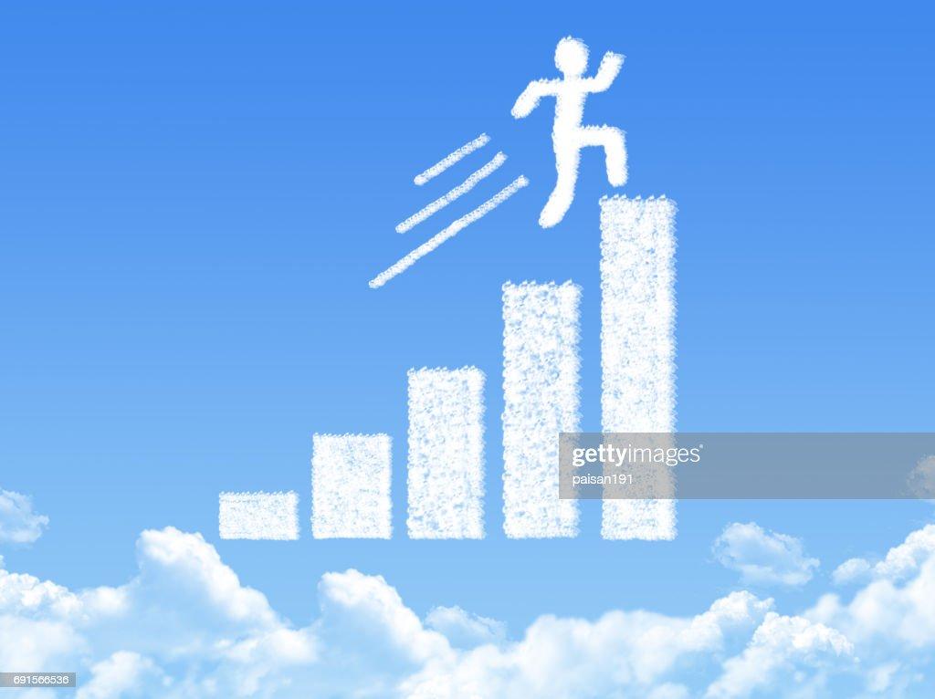 Growth Progress Graph Cloud Shape High-Res Stock Photo