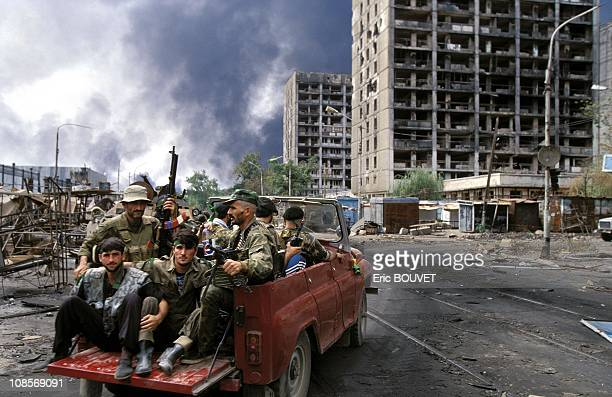 Grozny Russia besieged by the Russian army in August 1996