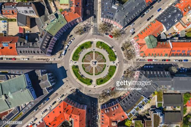 gärtnerplatz münchen von oben - munich stock pictures, royalty-free photos & images