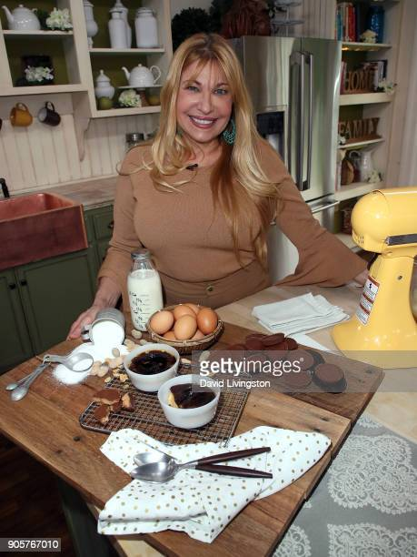 Grub restaurant coowner Betty Fraser visits Hallmark's 'Home Family' at Universal Studios Hollywood on January 16 2018 in Universal City California