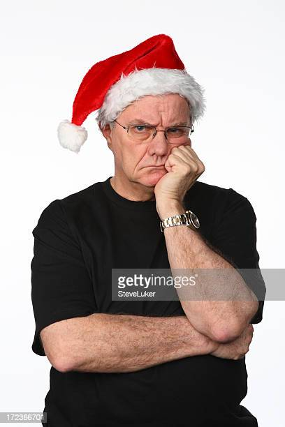 grumpy at christmas - ebenezer scrooge stock photos and pictures
