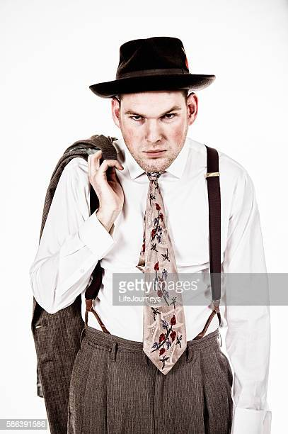 Grumpy Gumshoe- 1940's Era Man