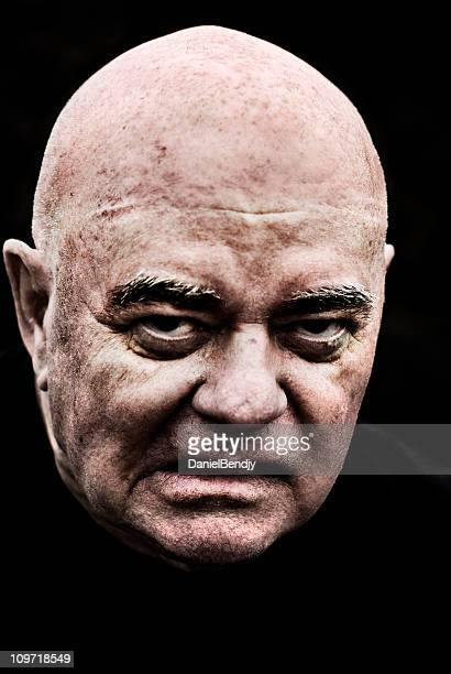 grumpy - ugly man stock photos and pictures