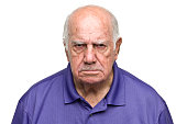 Grumpy Senior Man