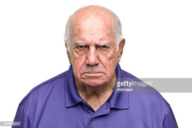 Grumpy Senior Man