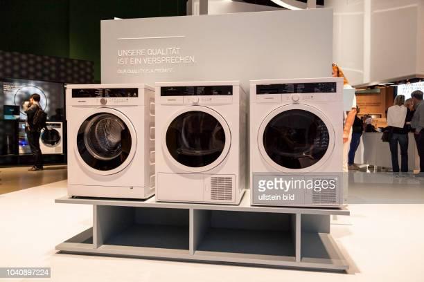 Grundig Waschmaschine auf der IFA in Berlin 2017