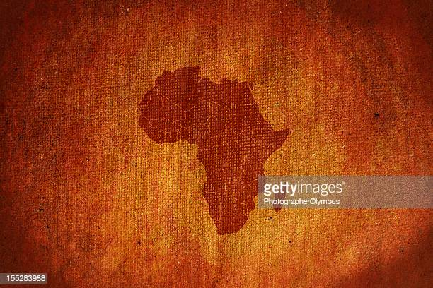 Grunge Africa map canvas