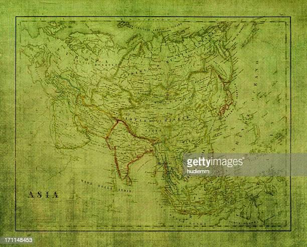 Grunge Asia Map texture