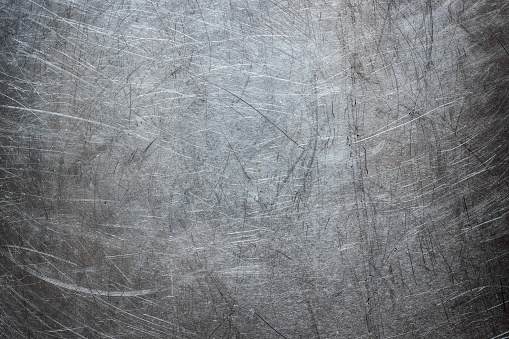 Grunge background of stainless steel, metal texture closeup 938345942