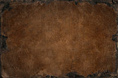 Grunge background with bleached distress texture with rusty iron frame