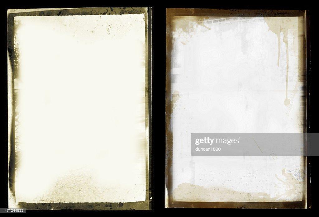 グランジブラックの境界線撮影セット : ストックフォト