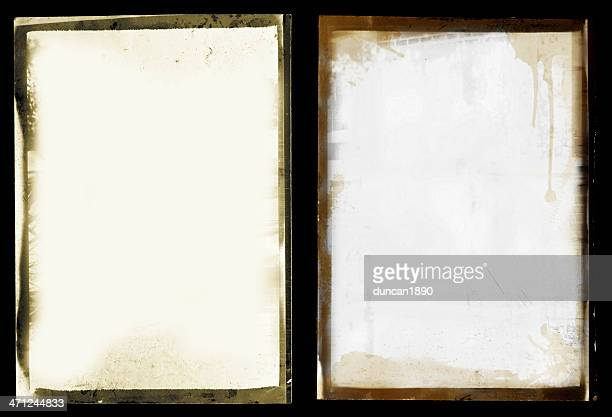 grunge black border photo set - transfer image stock pictures, royalty-free photos & images