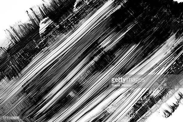 Grunge black paint brush stroke background on white