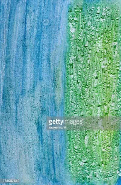 Fond grunge bleu et vert