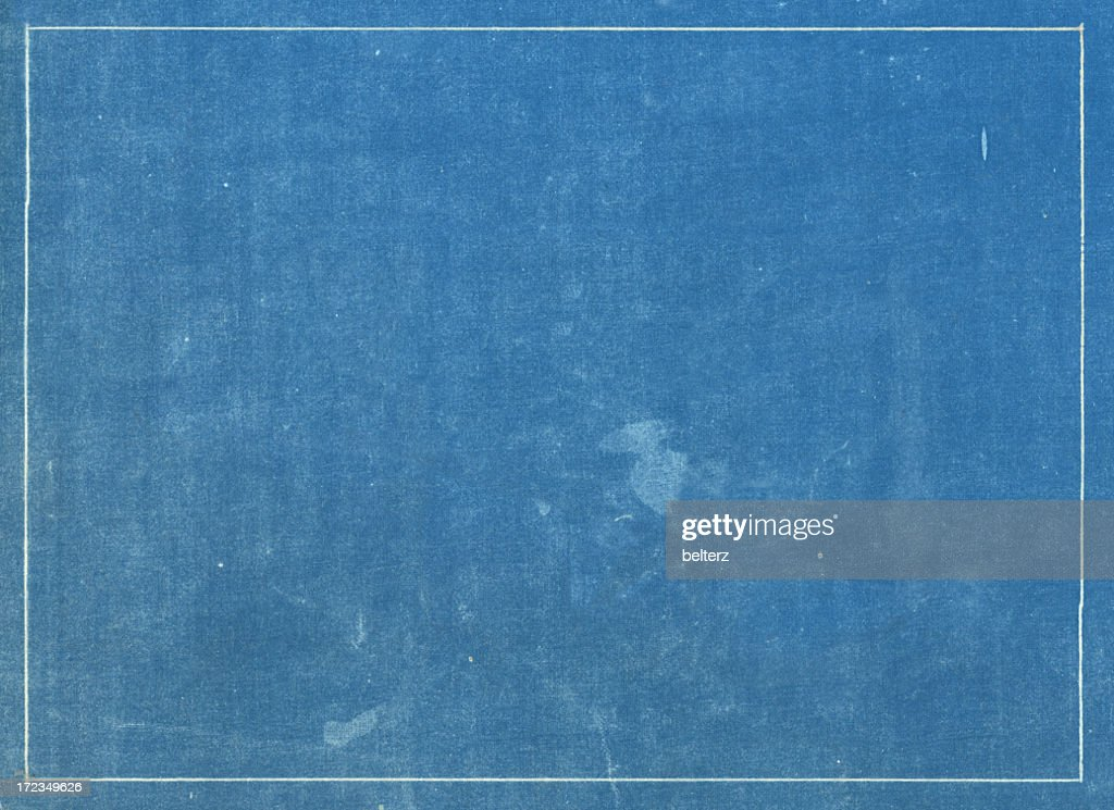 Blueprint stock photos and pictures getty images grunge blue print texture with white line border malvernweather Gallery