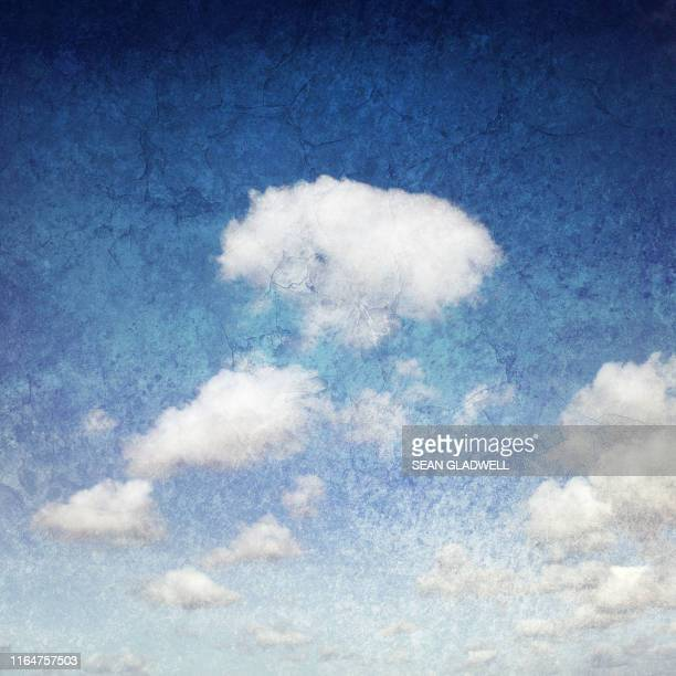 grunge clouds - old fashioned stock pictures, royalty-free photos & images