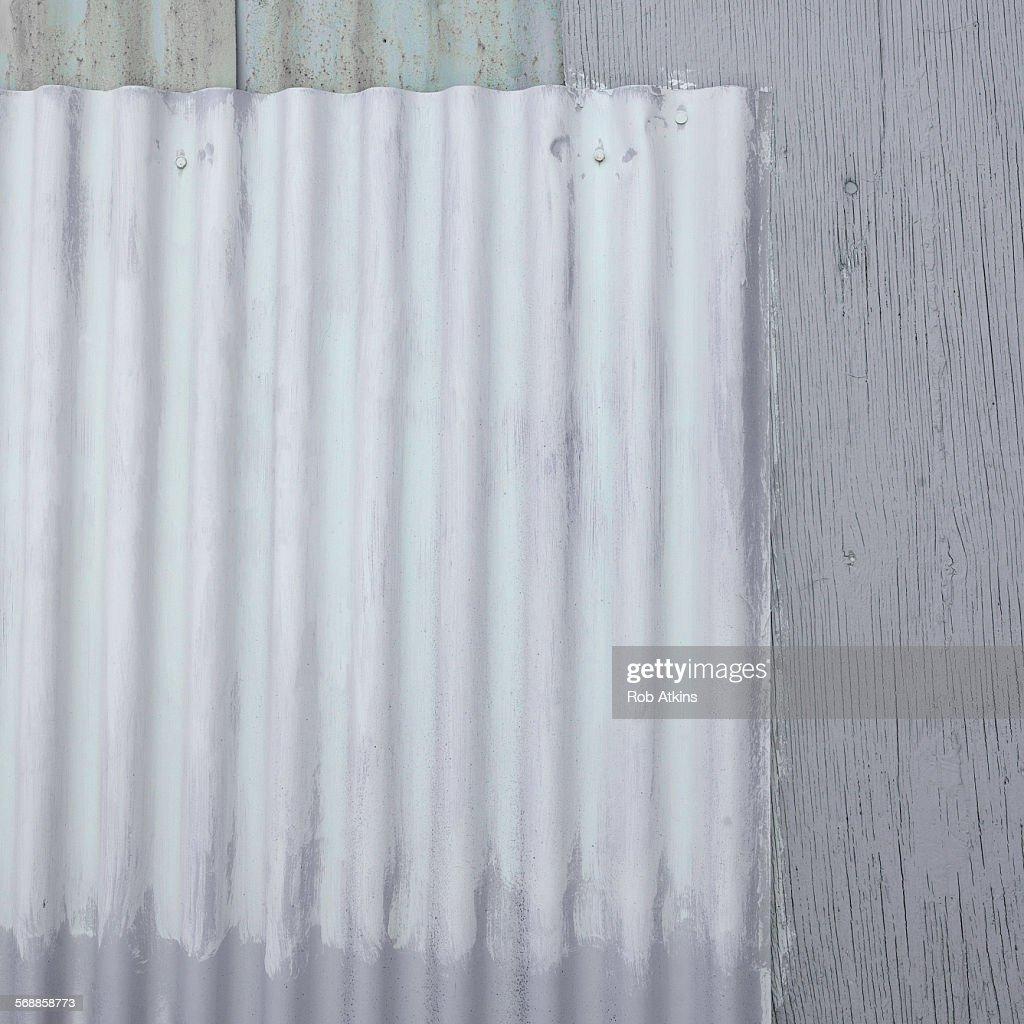 Grunge coregated wall : Stock Photo