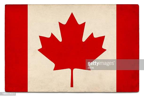 Grunge Flagge von Kanada auf Weiß