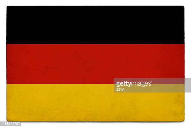 グランジの国旗のドイツ、ホワイト