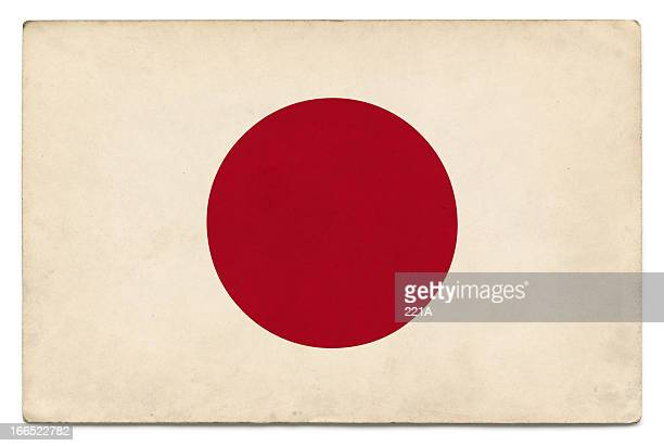 grunge flag of japan on white - japanese flag stock photos and pictures