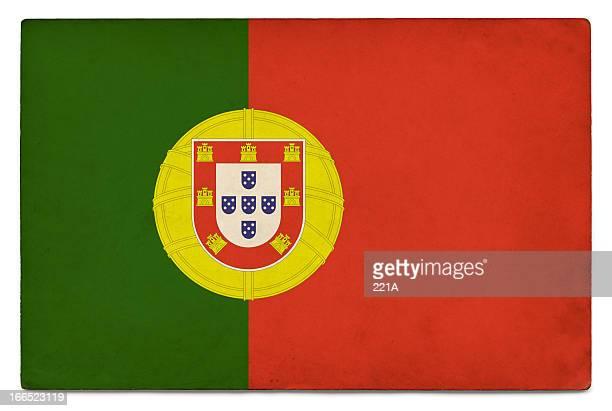 grunge bandeira de portugal em branco - bandeira de portugal imagens e fotografias de stock