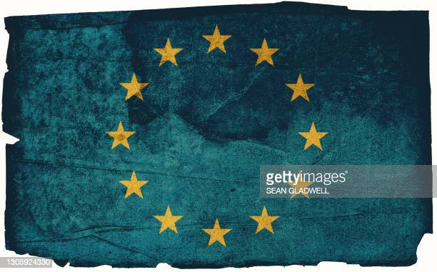 eu grunge flag - europe stock pictures, royalty-free photos & images