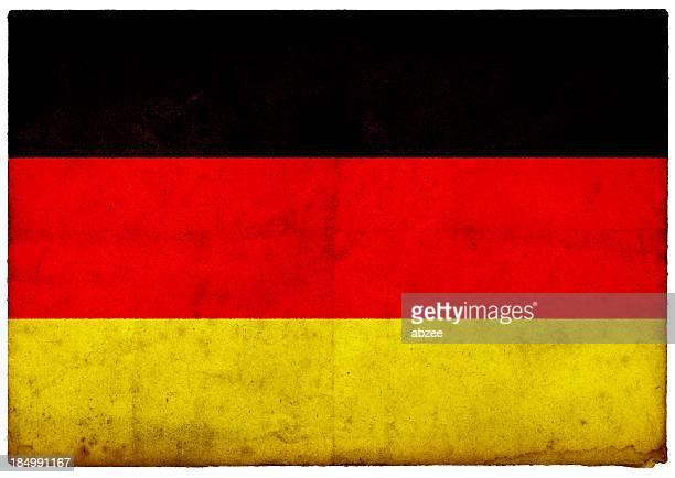 Grunge Deutsche Flagge auf rauen Kanten alte Postkarte