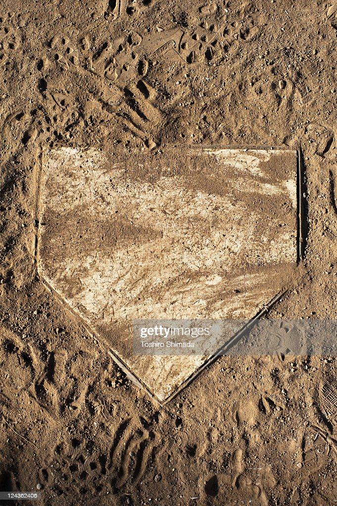 Grunge home base : Stock Photo