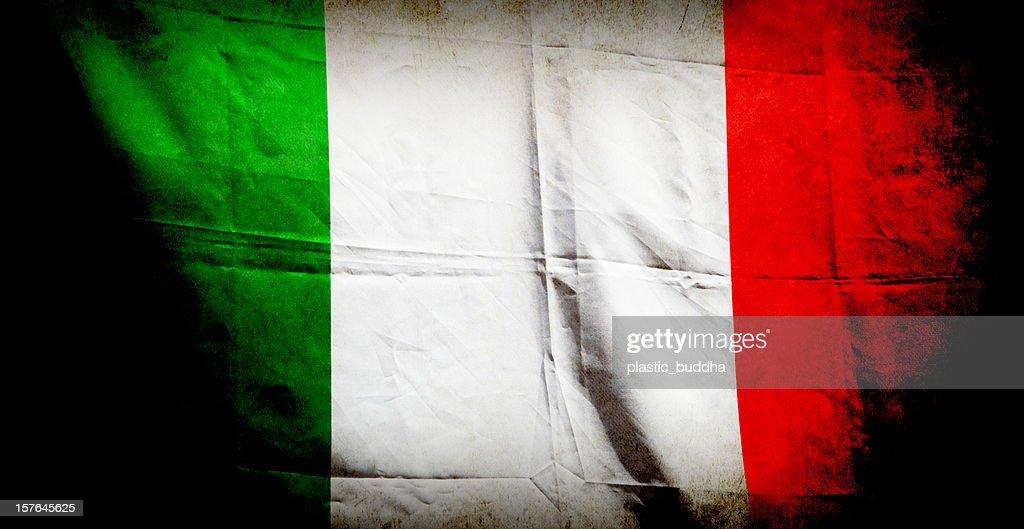 grunge italian flag : Stock Photo