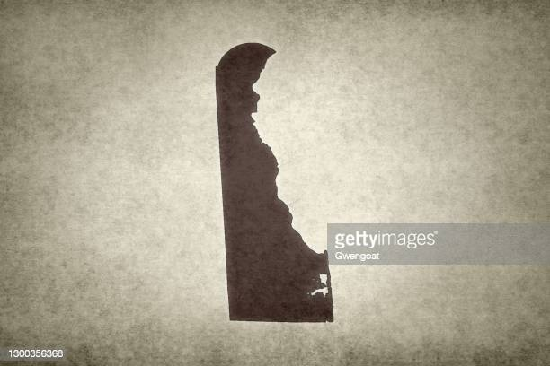 grunge map of the state of delaware - gwengoat stock pictures, royalty-free photos & images