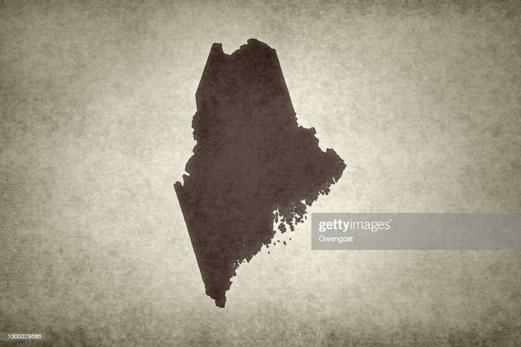 Grunge map of the state of Maine : Stock Photo