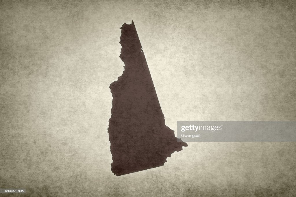 Grunge map of the state of New Hampshire : Stock Photo