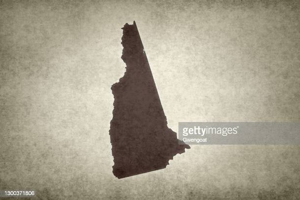 grunge map of the state of new hampshire - gwengoat stock pictures, royalty-free photos & images