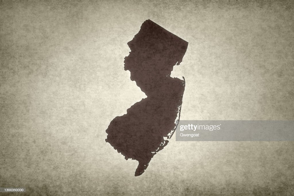 Grunge map of the state of New Jersey : Stock Photo