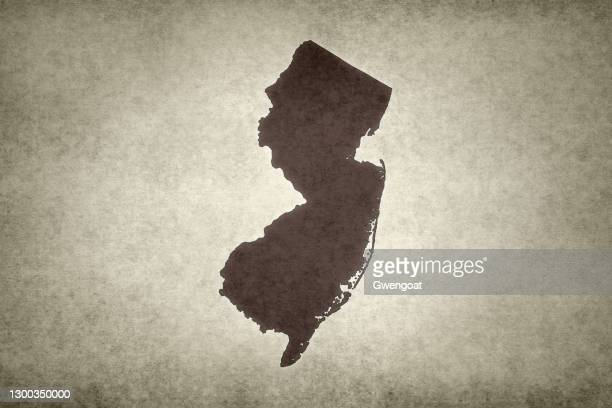 grunge map of the state of new jersey - gwengoat stock pictures, royalty-free photos & images