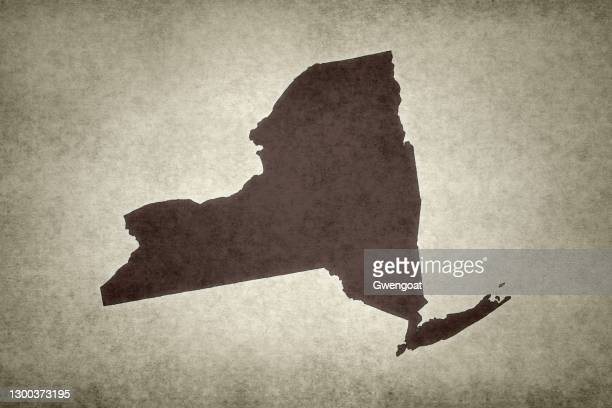 grunge map of the state of new york - gwengoat stock pictures, royalty-free photos & images