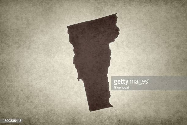 grunge map of the state of vermont - gwengoat stock pictures, royalty-free photos & images