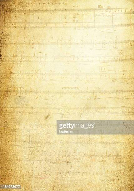 grunge musical note page background textured - musical note stock photos and pictures