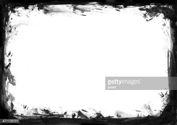 frame Grunge aquarelle peinte
