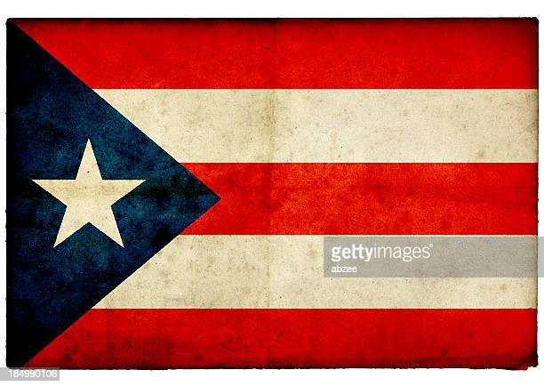 Grunge Puerto Rican on rough edged old postcard