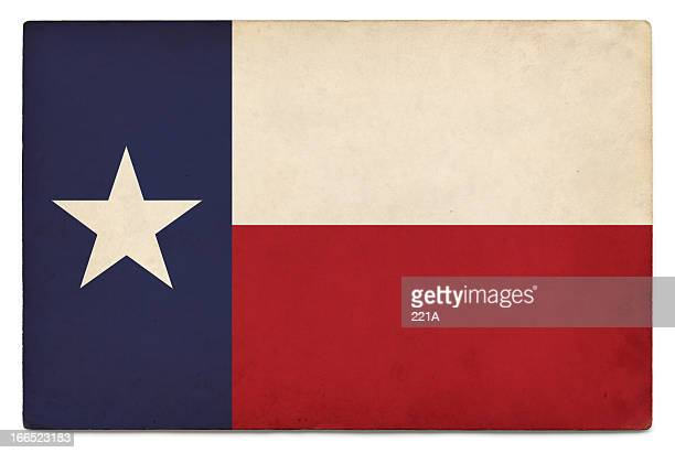 Grunge US state flag on white: Texas
