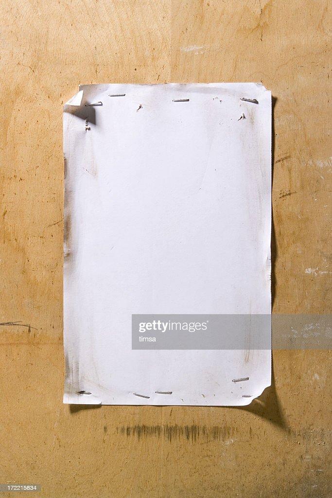 Grunge white notice : Stock Photo