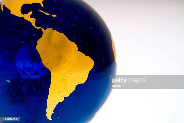 dettaglio grungey globo, sud america - america latina foto e immagini stock