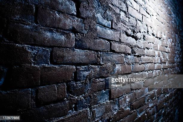 Grungy pared de ladrillos