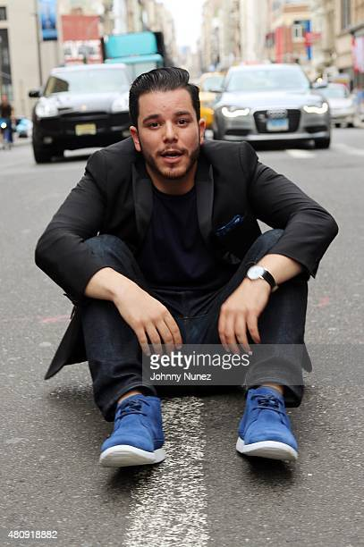Grungy Gentleman designer Jace Lipstein stops traffic at the Grungy Gentleman fashion show at The Supermarket during New York Fashion Week Men's S/S...