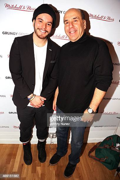 Grungy Gentleman editorinchief Jace Lipstein and father Barry Lipstein attend the Grungy Gentleman Studios party at a private location on April 8 in...