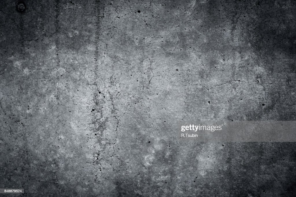 Grungy gray concrete wall texture background : Stock Photo
