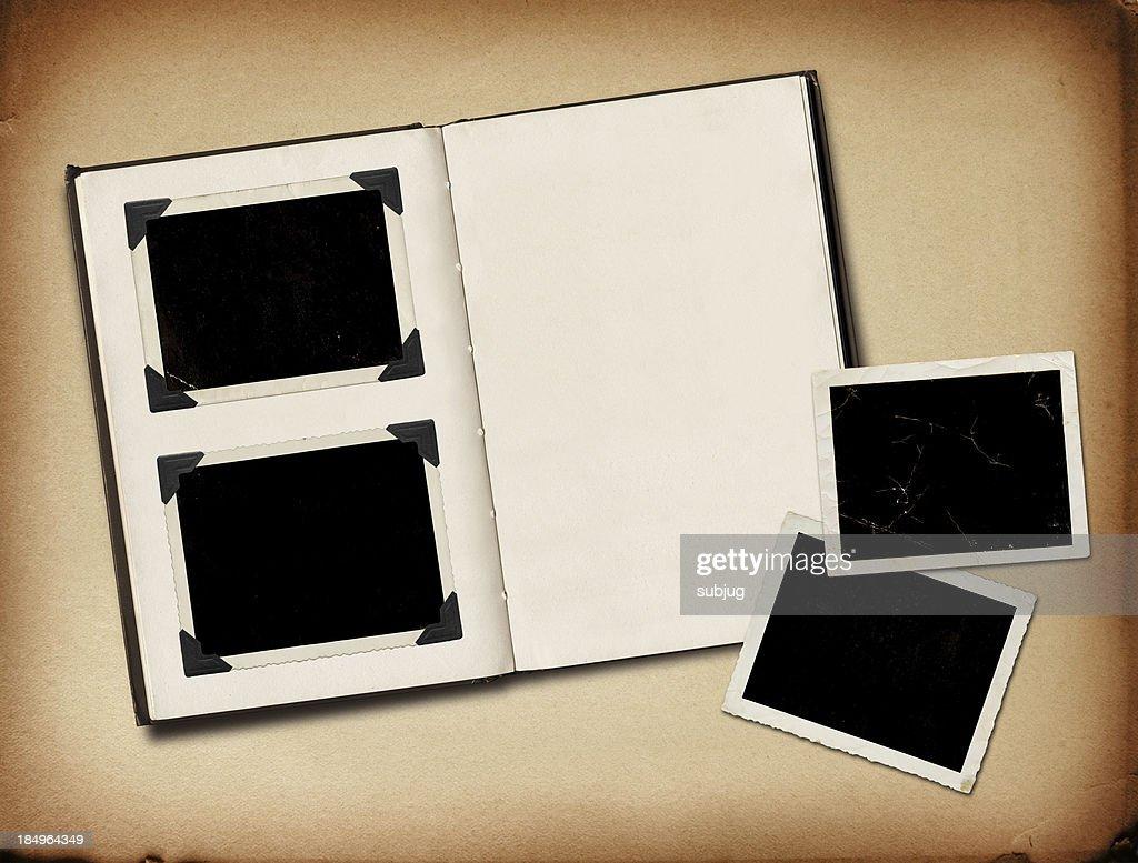 Grungy photo album : Stock Photo