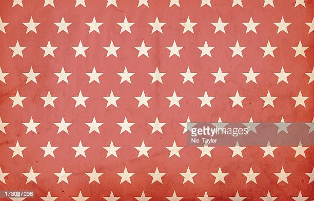 Grungy Red Patriotic Star Paper: XXXL Background
